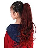 27.5Inch 100% Kanekalon Snythetic Hair Pieces Ponytail for Children