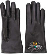 Gucci bee embroidered driving gloves