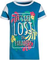 Paul Frank LET'S GET LOST Print Tshirt mid blue