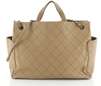 Chanel CC Pocket Tote Quilted Calfskin Large