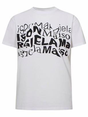 Maison Margiela T-Shirt Maxi Logo Bianca