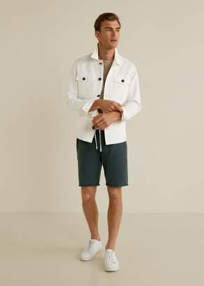MANGO MAN - Jogger cotton bermuda short green - S - Men