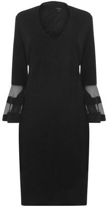 Marina Off shoulder fitted dress