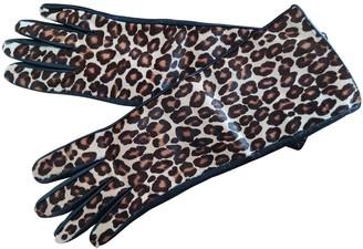 Max Mara Camel Suede Gloves