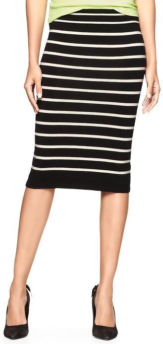 Gap Striped knit skirt