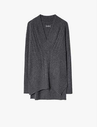 Zadig & Voltaire Elly V-neck cashmere jumper