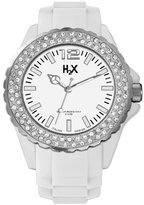 Haurex H2X Women's SS382DW1 Reef Stones Luminous Water Resistant White Soft Rubber Watch