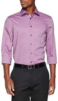 Seidensticker Men's Slim Langarm mit Kent-Kragen Bügelfrei uni Business Shirt