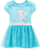 Children's Apparel Network Green Frozen Ruffle Dress - Toddler