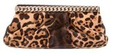 Christian Louboutin Kathena Ponyhair Leopard Print Clutch
