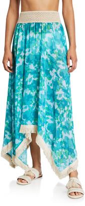 Ramy Brook Riviera Floral Print Skirt