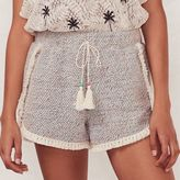 Lauren Conrad Women's Beach Shop Fringe French Terry Shorts