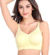 Startony Women's Nursing Maternity Sleep Full Coverage Push Up Front Open Bra