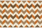 """Palm Springs Hand-Hooked Brown/Orange Indoor/Outdoor Area Rug Dann Foley Rug Size: Rectangle 5' x 7'6"""""""