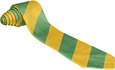 Eton Unbranded Our Lady's Bishop Primary School Unisex Tie, Green/Yellow