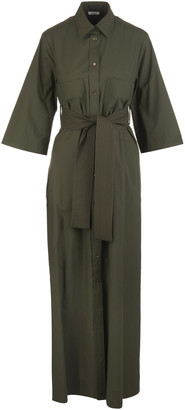 P.A.R.O.S.H. Military Green Woman Canyon Long Dress