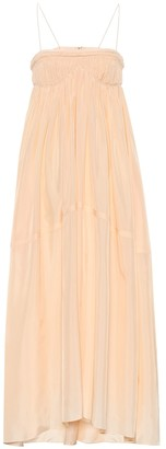 Chloé Silk-ponge maxi dress