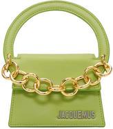 Jacquemus Green Le Petit Rond Pouch