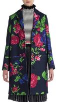 MSGM Floral Printed Overcoat
