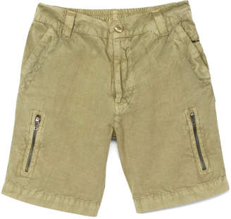 SAM. Sophie & Boys' Casual Shorts Olive - Olive Wash Zip-Pocket Cargo Shorts - Infant