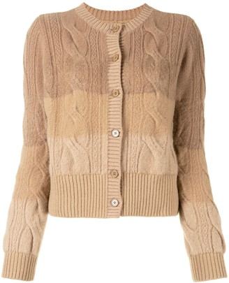 Coohem Cable-Knit Degrade Cardigan