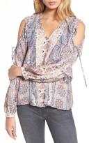 Parker Women's Alice Cold Shoulder Silk Blouse