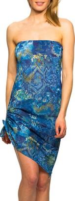 Kiniki Azure Tan Through Beach Dress Swimwear (14)
