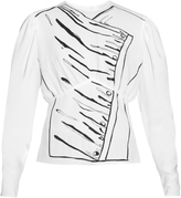 J.W.Anderson Printed puff-sleeved blouse