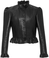 J.W.Anderson Ruffled Leather Jacket