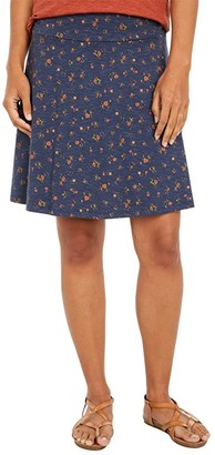 Toad&Co Chaka Skirt (True Navy Stripe) Women's Skirt