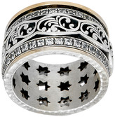 Or Paz Women's Rings 14K - Cubic Zirconia & Two-Tone Scallop Spinner Ring