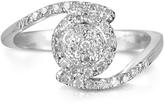 Forzieri 0,35 ctw Diamond Pave 18K White Gold Ring