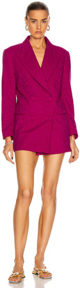 Dundas Double Breasted Blazer Dress in Magenta | FWRD