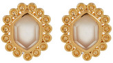 Melinda Maria Alex Moonstone Hexagon Stud Earrings