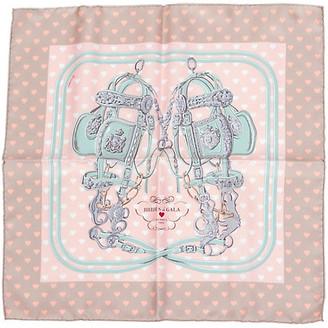One Kings Lane Vintage Hermes Brides de Gala Pochette Scarf - Vintage Lux - pink/gray
