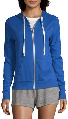Flirtitude Juniors Womens Long Sleeve French Terry Hoodie