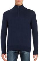 Black Brown 1826 Cotton-Blend Quarter-Zip Sweater
