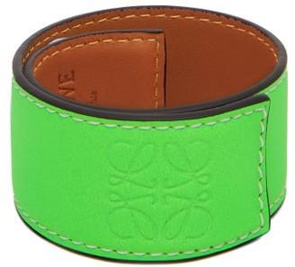 Loewe Paula's Ibiza - Anagram-debossed Leather Slap Bracelet - Green