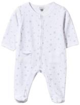 Absorba White Velour Snowflake Print Babygrow