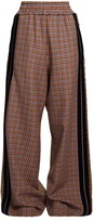 Golden Goose Deluxe Brand Sophie wide-leg checked wool-blend trousers