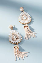 Anthropologie Pearl Tassel Drop Earrings