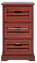 Safavieh Samara 3 Drawer Cabinet Red