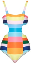 Mara Hoffman Vela rainbow-stripe print swimsuit