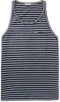 Lanvin - Striped Cotton-jersey Tank Top
