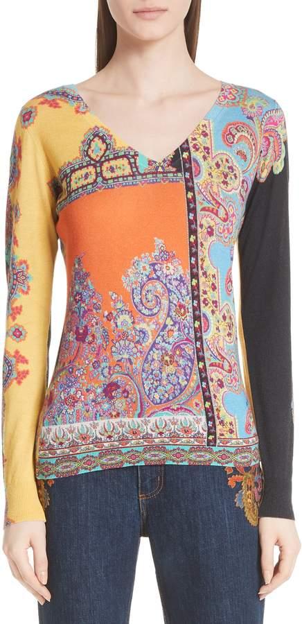 Etro Harlem Paisley Silk & Cashmere Sweater