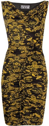 Versace Jeans Couture Baroque Print Dress