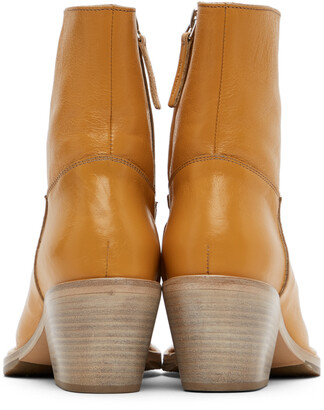 Acne Studios Tan Leather Ankle Boots