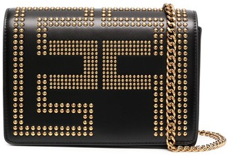 Elisabetta Franchi Studded Logo Shoulder Bag