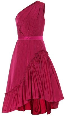 Max Mara Orologi taffeta midi dress