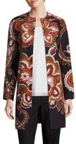 Lafayette 148 New York Makeda Cotton Fille Paisley-Print Coat